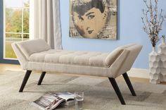 Belham Living Jillian Indoor Bedroom Bench Delightfully