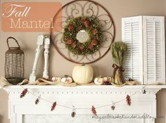 """Sometimes using what you've got gives the best results: <span style=""""text-decoration: underline;""""><strong><a href=""""http://meganbrookehandmadeblog.com/2012/10/fall-mantel-2012.html"""">Eclectic Elements Mantel</a></strong></span>"""