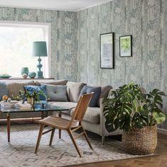 wallpaper Senecio green, design Dagmar Lodén