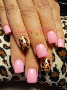 Pink and gold animal print