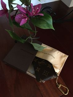 My Louis Vuitton key pouch.  Louis Vuitton monogram canvas.   Coin purse. 2015   Easter bunny came early !
