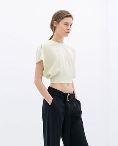 STUDIO TOP WITH BACK OPENING from Zara