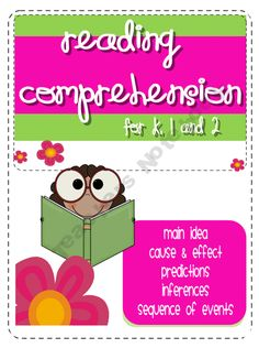 Reading Comprehension Activities for K, 1 and 2 product from Read-Like-A-Rock-Star on TeachersNotebook.com