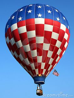 Hot Air Balloon - USA Freedom. Independence. America                                                                                                                                                                                 More