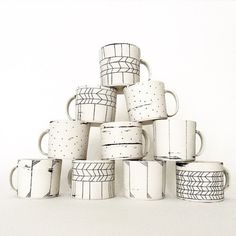 hopelessceramix: Mugs going to @northernclaycenter #muglife #porcelain #ceramics