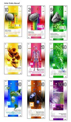 Via @Marlys Rickel Graphic Design : swiss bank notes