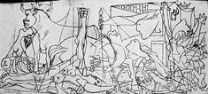 PICASSO Pablo - Guernica - tracés - 1936 - 1