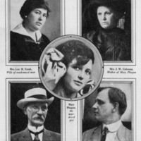Mary Phagan, Mrs. Leo Frank, Mrs. J. W. Coleman, Judge L. S. Roan, and Hugh Dorsey, in Collier's Weekly, December 19, 1914.