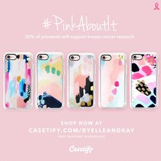 For the entire month of October Casetify will donate 30% of all proceeds to Living Beyond Breast Cancer.   #pinkaboutit #casetify
