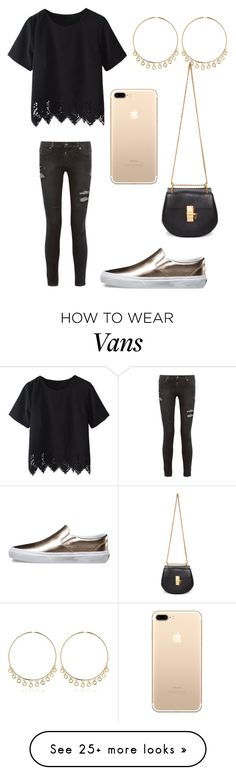 """Study"" by sarahfohlen on Polyvore featuring RtA, Vans, Maria Francesca Pepe, Chloé, Winter and 2k17"