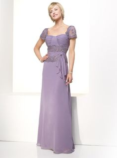 Mother Of The Bride Dresses | ... Lace Ruched Full Length Lilac Chiffon Mother Of The Bride Dresses