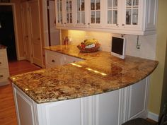 White Kitchen Cabinets With Granite Countertops new venetian gold granite kitchen countertops | new venetian gold