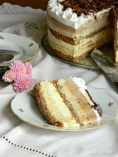 Taste of life: Interkontinental torta Torte Recepti, Kolaci I Torte, Baking Recipes, Cookie Recipes, Dessert Recipes, Cake Cookies, Cupcake Cakes, Cupcakes, Torte Cake