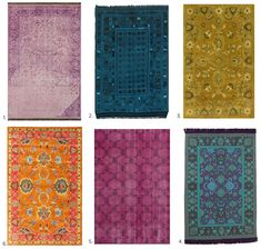 Totally Loving: Overdyed Rugs:  Here's how to Get the Look for Less! - sohautestyle.com