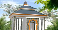 67 New Desain Teras Mushola Istimewa Banget - Arcadia Desain Mosque Architecture, Architecture Drawings, Islamic Motifs, Modern Exterior House Designs, Architect Design, Gazebo, Beautiful Places, Outdoor Structures, Building