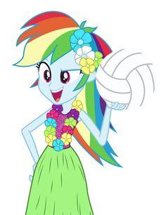 Hula Rainbow Dash by MoHawgo.deviantart.com on @deviantART