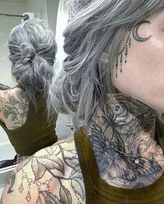 Likes, 301 Comments - Ryan Ashley Malarkey ( on Instag. Girl Tattoos, Throat Tattoo, Girl Face Tattoo, Hair, Face Tattoos, Neck Tattoo, Face Tattoos For Women, Hair Beauty, Neck Tattoos Women
