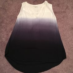 Ombré tank top Worn once shown in picture. Hi low style and can fit a size small. Bought at Nordstrom. Dalia Tops Tank Tops