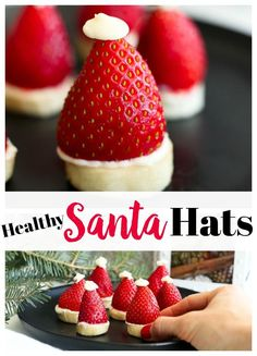 Appetizers For Kids Christmas Santa Hat 24 Trendy Ideas Easy Christmas Treats, Christmas Appetizers, Christmas Desserts, Kids Christmas, Holiday Recipes, Party Snacks, Christmas Lunch Ideas, Xmas Food, Christmas