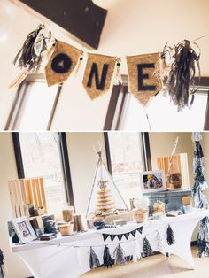 Modern+++Boho+Style+Camping+1st+Birthday+Party