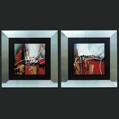 Conjunto cuadros, abstractos