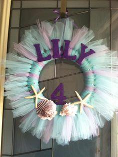 Lily's Birthday Wreath, Mermaid Party