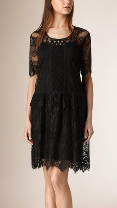 French Lace Cut-out Dress | Burberry