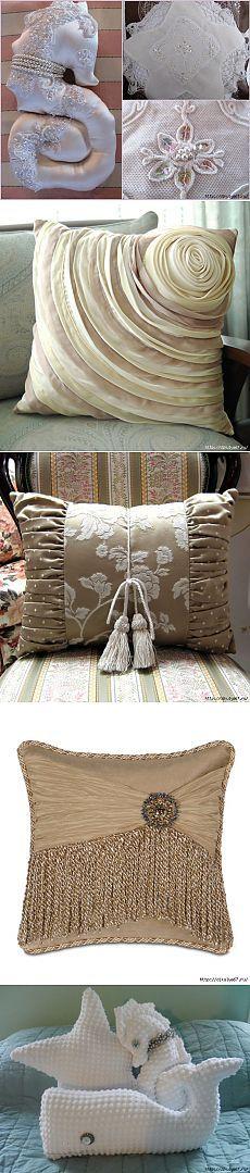 Подушки разные-все прекрасные! Много идей.
