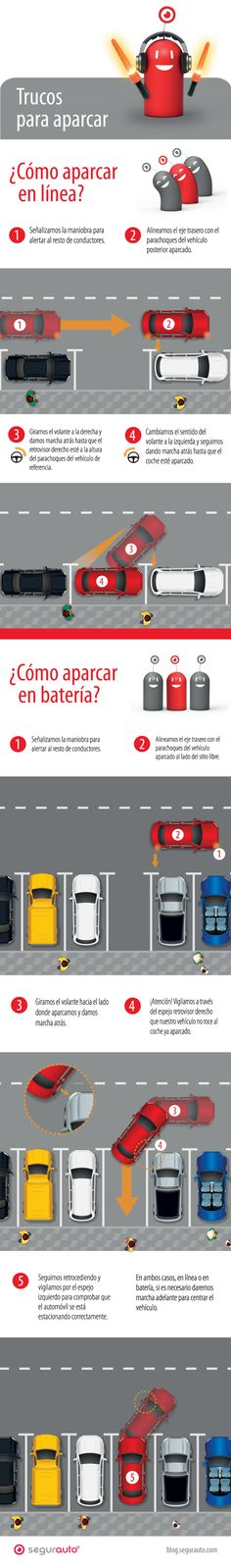 Infografía – Trucos para aparcar en batería y en línea
