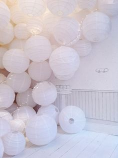 Bonpoint, lampion, decoration, wedding, mariage, white