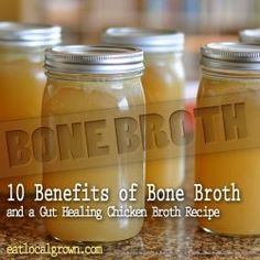 Chicken Bone Broth -- whole chicken, celery, onion, garlic, fresh parsley, fresh ginger, salt, acv
