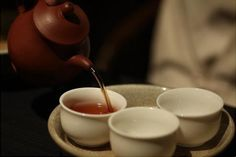 尘世喧嚣过后,由茶伴我安静 Tea Culture, Chinese Words, Tea Art, Chinese Tea, Tea Time, Tableware, Dinnerware, Tablewares, Dishes
