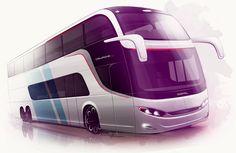 Sketches we like / Digital Sketch / Transportational / at - Comil Bus Brazil Design -