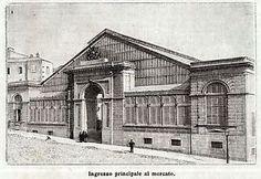 CAGLIARI: il Mercato Coperto nel 1891. Stampa Antica. 1891