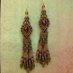 Украшения макраме с бисером Macrame and beads: so beautiful!