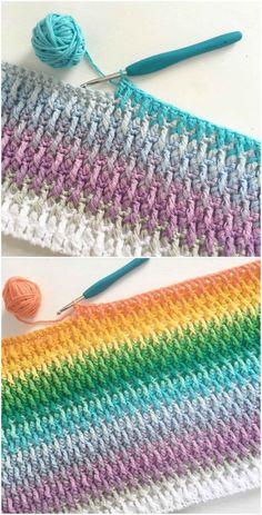 Alpine Stitch by Stephanie Linden Knitting TechniquesKnitting HatCrochet Project. Alpine Stitch by Stephanie Linden Knitting TechniquesKnitting HatCrochet ProjectsCrochet Stitches # Crochet Afghans, Crochet Stitches Patterns, Stitch Patterns, Knitting Patterns, Free Knitting, Diy Crochet Blankets, Crochet Baby Blanket Borders, Knitting Beginners, Different Crochet Stitches