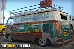 What's for sale? Logo'd VW Bus.