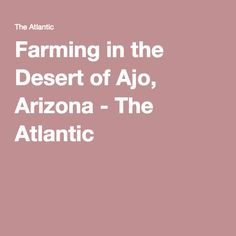 Farming in the Desert of Ajo, Arizona - The Atlantic