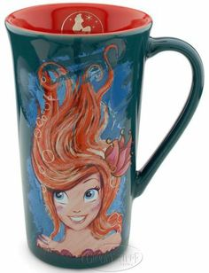 Disney The Art of Ariel Collectible Mug Coffee Cup The Little Mermaid Teal NEW
