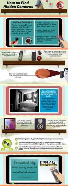 How To Find Hidden Cameras Planted In Any Room #infographic