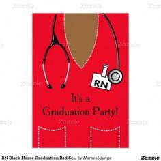 Shop RN Black Nurse Graduation Red Scrub Top Invitation created by NursesLounge. Masters Degree In Nursing, Nursing Degree, Nursing Career, Nursing Graduation, Nursing School Scholarships, Best Nursing Schools, Nursing Students, Nurse Grad Parties, Nurse Party