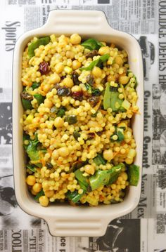 Curried pearl couscous salad. #couscous # salad by/ en.myfoodpassion.net