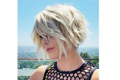 Julianne Hough's Textured Bob Growing out a pixie can be tough, but Julianne makes it look so easy! Her layered chin-length bob is seriously flirty. ottest New Celebrity Haircuts! - Page 2