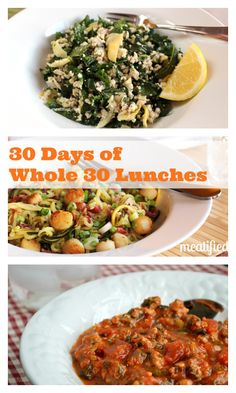 30 Days of Whole 30 Lunches from http://meatified.com #paleo #glutenfree #whole30