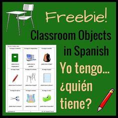 ¿Yo Tengo, Quién Tiene? Classroom Objects Game