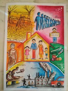 Save Environment Poster Drawing, Save Water Poster Drawing, Save Environment Posters, Cute Little Drawings, Art Drawings For Kids, Drawing For Kids, Clean India Posters, Save Earth Drawing, Earth Drawings