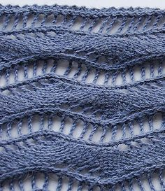 Free knitting pattern; wavy lace scarf