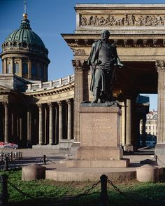 SPB Barclay de Tolly monument on the square on the right side of the Kazan Cathedral in Saint Petersburg, sculptor B.Orlovsky. (1811).