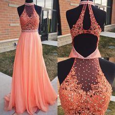Charming Prom Dress, Chiffon Evening Party Dress,Sexy Prom