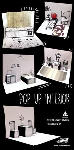 Paper Pop Up Interior (krokotak)